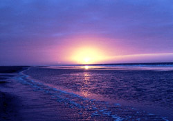 Beach: Purple Sunset (Photo: Thinkstock/Stockbyte)