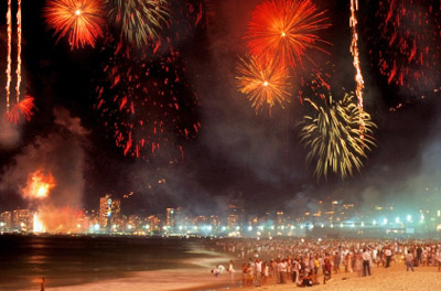 Reveillon at Copacabana Beach, Rio