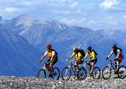 Biking the Canadian Rockies (Photo: Qdig, Sacred Rides)