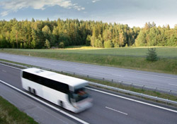Bus on the road (Photo: iStockPhoto/Tor Lindqvist)