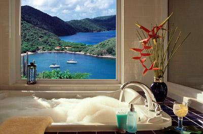 View from villa at Peter Island Resort, British Virgin Islands