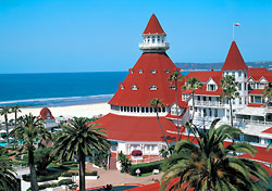 "With its stunning red turrets and palm-filled landscaping, the San Diego area <a href=""http://www.hoteldel.com"" target=""_blank"">Hotel del Coronado</a> was designed to be ""the talk of the Western world"" by its founders when it opened in the 1890s. The glamorous resort was also used as the film site for the Hollywood classic <em>Some Like It Hot.</em>   If you stay at the Del this summer, you might consider booking a package for the best value. For example, the hotel's spa package costs $395 per night in late June, while regular rates start at $295 for the same nights. However, the spa package comes with a $175 spa voucher, so you're getting $75 worth of services for nothing.   (Photo: Hotel del Coronado)"
