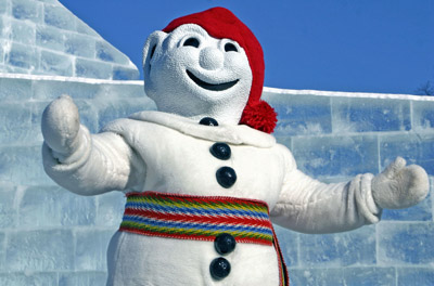 Bonhomme at Quebec Winter Festival, Quebec City, Quebec