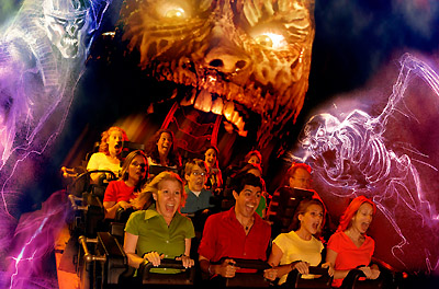 Revenge of the Mummy at Universal Studios, Hollywood
