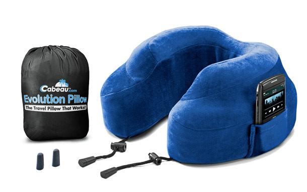 Product: Cabeau Evolution Pillow, Blue Display (Photo: Cabeau)