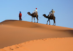 October: Trekking Atop a Camel in Morocco    Exploring the Sahara by camel—what could be a more classic desert adventure? With an October visit, you can expect warm weather in the 70s and 80s for your trek. Learn about and visit with local herders and nomads, see splendid sunrises and sunsets over the sands, and experience the all-encompassing peace and quiet of the desert. Frommer's has put together a list of adventure tour operators, or plan your trip with help from the Morocco National Tourist Office, which offers a host of resources on its website.    (Photo: iStockphoto)