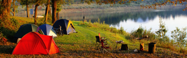 Campsite at Sunset (Photo: iStockPhoto/Elzbieta Sekowska)