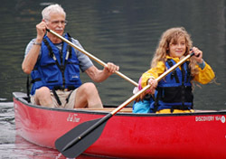 Canoeing Grandpa and Kid (Photo: AMC Photo Files)