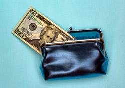 Change purse with $20 bill (Photo: iStockPhoto/Daniel Butler)