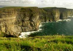 """<strong>Cliffs of Moher</strong>  One of the most photographed places in Ireland, the <a href=""""http://www.cliffsofmoher.ie/"""" target=""""_blank"""">Cliffs of Moher</a> ascend more than 700 feet above the water and cover nearly five miles. The dramatic cliffs are home to several species of sea birds, including the only mainland colony of Atlantic Puffins, Razorbills, and Choughs. Visitors are welcome to climb the stairs leading to O'Brien's Tower, which provides panoramic views. On a clear day, you may even catch a glimpse of the Aran Islands.   (Photo: iStockphoto/Ines Gesell)"""