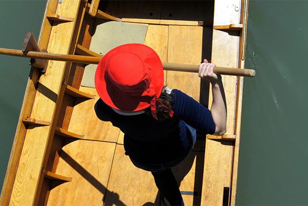 Red Hat on Gondola (Photo: Christine Sarkis)