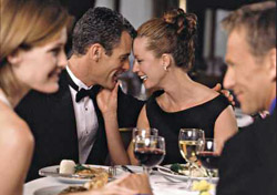 Two couples dining on Celebrity (Photo: Celebrity)