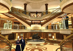 The Grand Lobby of the Queen Victoria (Photo: Cunard)