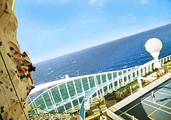 For adventurous types, Royal Caribbean's &lt;a href=&quot;http://www.royalcaribbean.com/findacruise/ships/home.do;jsessionid=0000tAAs4rmg7s6VitVV2LQ120c:10ktdmpjo?cS=NAVBAR&quot; target=&quot;_blank&quot;&gt;Freedom- and Voyager-class ships&lt;/a&gt; and Norwegian's &lt;a href=&quot;http://www.ncl.com/nclweb/fleet/shipInformation.html?shipCode=PEARL&quot; target=&quot;_blank&quot;&gt;Norwegian Pearl&lt;/a&gt; feature onboard rock-climbing walls. Guests can choose easy or difficult routes, so no experience is necessary. The ship's staff provide equipment, belay the climbers, and shout encouragement. As the rock walls are located on the top decks of the ships, this activity is not for anyone with a fear of heights. (Photo: Royal Caribbean)