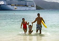 Family on the beach in Labadee (Photo: Royal Caribbean)