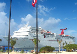 Carnival Fantasy in Grand Turk (Photo: Erica Silverstein)