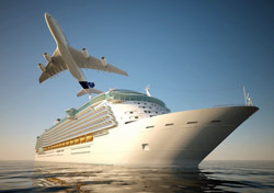 Cruise: Ship with Plane Overhead (Photo: Shutterstock/Pablo Scapinachis)