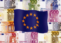 EU flag and currency (Photo: Index Open)