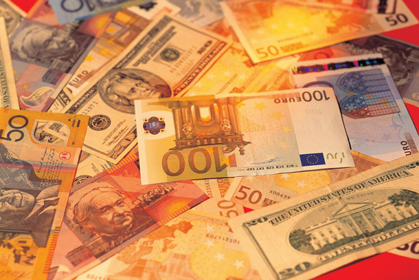 Euros and dollars (