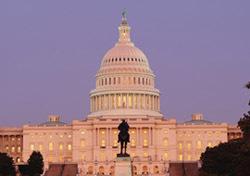 Capitol Building at dusk, Washington, D.C.
