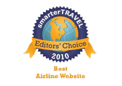 Editor's Choice Badge: Best Airline Website