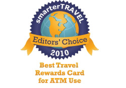 Editor's Choice Badge: Best Travel Rewards Card ATM