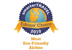 Editor's Choice Badge: Most Eco-Friendly Airline
