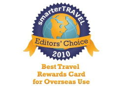 Editor's Choice Badge: Best Travel Rewards Card