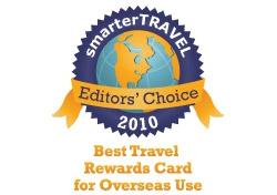 Editor's Choice Badge: Best Travel Rewards Card