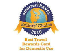 Editor's Choice Badge: Best Travel Rewards Card Domestic Use