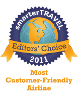 Editors' Choice Badge: Customer Friendly Airline