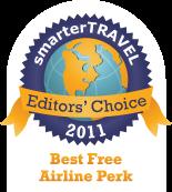 Editors' Choice Badge: Free Airline Perk