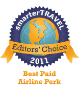 Editors' Choice Badge: Paid Airline Perk