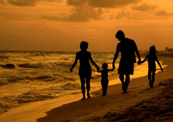 A Family … Playa del Carmen  Just a short drive south of Cancun lies Playa del Carmen, a great destination for families in Mexico's Riviera Maya region on the Caribbean Sea. Spend your vacation days snorkeling, scuba diving, horseback riding, or just relaxing on the beach, or take advantage of day trips to keep the kids entertained. For an educational outing, it's an easy drive to the famous ruins of Tulum and Coba; for pure kid-friendly fun, head to the nearby water parks Xcaret and Xel-Ha. At press time, February airfares from the greater New York City area came in around $300. Get more information on the region on TravelYucatan.com.    (Photo: iStockphoto/Judy Barranco)