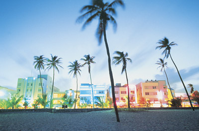 Miami Beach in Fluorescent Colors