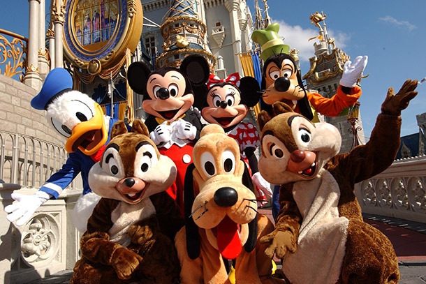 Disney characters at the Magic Kingdom (Photo: Walt Disney World Resort)