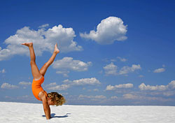 Handstand, Panama City Beach, Florida (Photo: Panama City Beach Convention & Visitors Bureau)