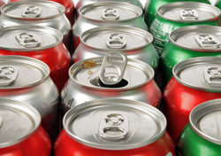 Food: Soda Cans (Photo: Shutterstock/MSPhotographic)