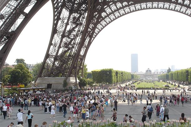 Base of Eiffel Tower, Paris, France (Photo: Rick Steves)