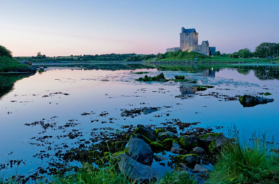 Ireland - Galway Bay: Dunguair Castle at Sunset