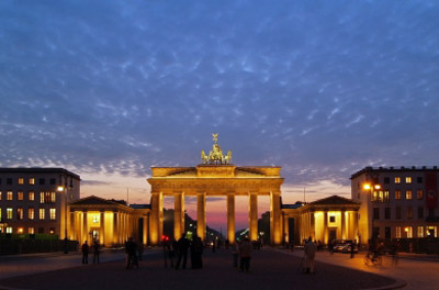Brandenburg Gate in evening, Berlin