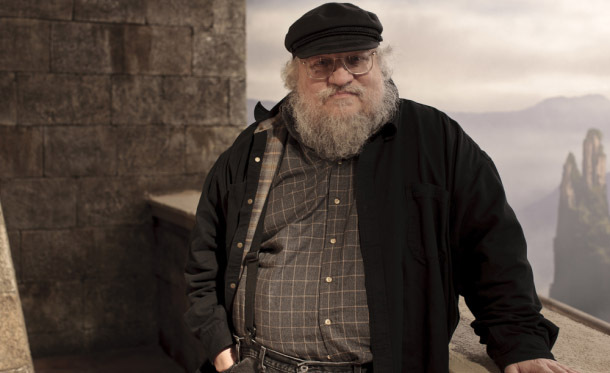 George R. R. Martin on Set (Photo: Nick Briggs/HBO)
