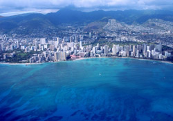 Flying over Honolulu (Photo: iStockPhoto.com/Drew Stephens)