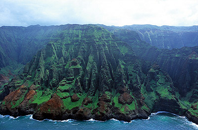 Pali cliffs in Kauai, Hawaii
