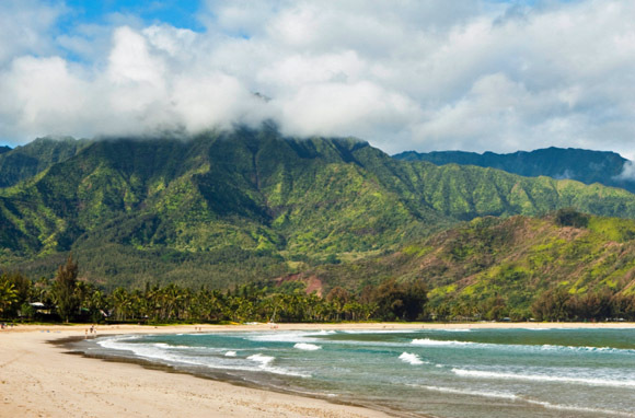Hawaii: Hanalei Bay, Beach (Photo: Thinkstock/iStockphoto)