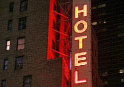 Hotel Carter sign (Photo: Terraxplorer/iStockphoto)
