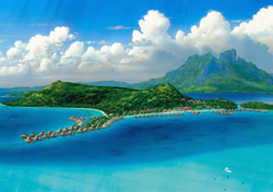 "<h2>Bora Bora Nui Resort and Spa, French Polynesia</h2>  With its crystal-clear water, tiny islets covered in palm trees, and emerald green mountains rising from the sea, <a href=""http://www.tahiti-tourisme.com/islands/borabora/bora-bora.asp"" target=""_blank"">French Polynesia's Bora Bora</a> looks as if nature intended it to be the ultimate honeymoon destination. Located on its own private islet off the main island, <a href=""http://www.boraboranui.com"" target=""_blank"">Bora Bora Nui Resort and Spa</a>  is a top choice for romantic travelers, offering 120 overwater and island-based bungalows, a Mandara Spa, and a half-mile long white sand beach. Prices start at $760 per night.   (Photo: Starwood Hotels and Resorts)"