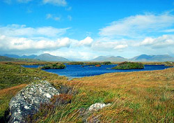 Snuggled between the Irish Coast and the peaks of the Twelve Bens, Connemara Nationa
