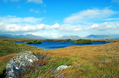 Mountain view in Connemara National Park
