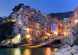 Early evening at the village of Riomaggiore in Cinque Terre, Italy (Photo: Bill Grove)